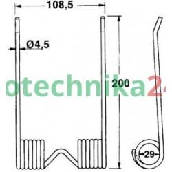 Palec podbieracza prasy IHC / McCormick 772328R1