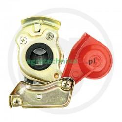 """Złączka pneumatyczna M22x1,5 dwudrożna czerwona-""""zapas"""""""