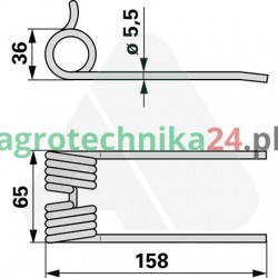 Palec podbieracza Pöttinger 342310