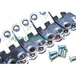 Łącznik pasa prasy ze stali ocynk (komplet z drutem i śrubami) MS25