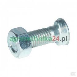Śruba płużna 2-noskowa z łbem owalnym M12 x 35 mm z nakrętką