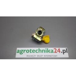 """Złączka pneumatyczna M22x1,5 dwudrożna żółta-""""hamulec"""""""