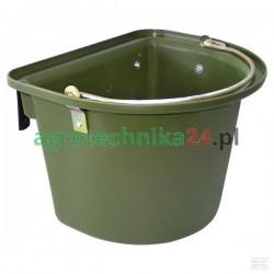Pojemnik z zaczepami i pałąkiem zielony 12 l