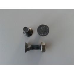 Śruba płużna z nakrętką 4-kątna z podsadzeniem M10x35 8.8