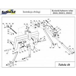 Zestaw podnosnika hydraulicznego do kosiarek bębnowych Samasz