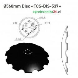 Talerz uzębiony Agrisem 560 mm TCS-DIS-537