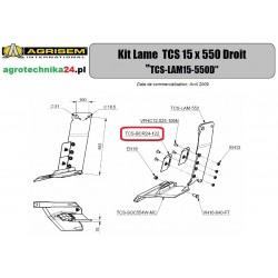 Ostrze prawe Agrisem TCS-BOR24-122