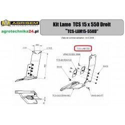 Ostrze prawe TCS 15x550 Agrisem