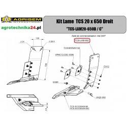 Ostrze prawe TCS 20x650 Agrisem