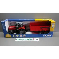 Zabawka traktor Massey Ferguson z przyczepą