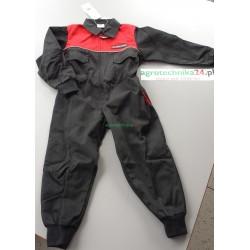 Kombinezon czarno-czerwony dla dzieci Massey Ferguson