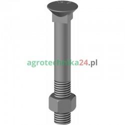 Śruba płużna z nakrętką M12x90 10.9 Agricarb