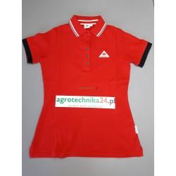 Koszulka polo damska czerwona Massey Ferguson