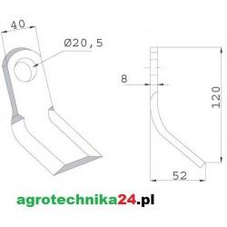 Nóż bijakowy Y AGM-03