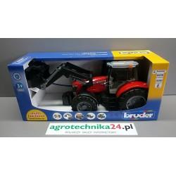 Zabawka traktor Massey Ferguson z ładowaczem